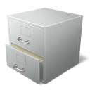 иконка file cabinet, файлы, архив,