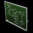 иконки flow chart, схема, доска, алгоритм,