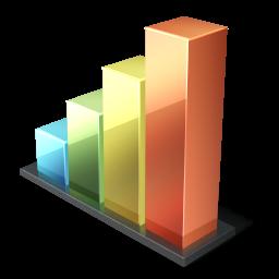иконка bar chart, чарт, график, статистика, голосование,