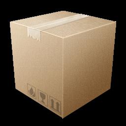 иконка packaging, коробка, ящик,