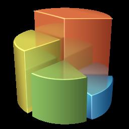 иконка pie chart, круговая диаграмма, график, статистика,