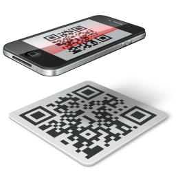 иконки qr code, iphone, сканер кода,