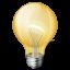 иконка bulb, light, лампочка,