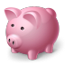 иконка piggy bank, свинья копилка, копилка,