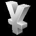 иконка yen, иена,