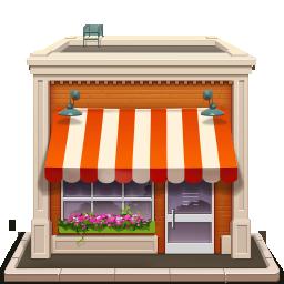 иконка shop, магазин, здание,