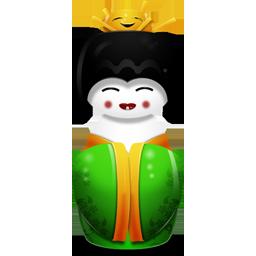 иконка China, китайская гейша,