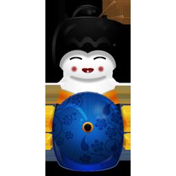иконки Japan, японская гейша,