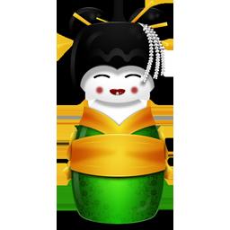 иконки Korea, корейская гейша,