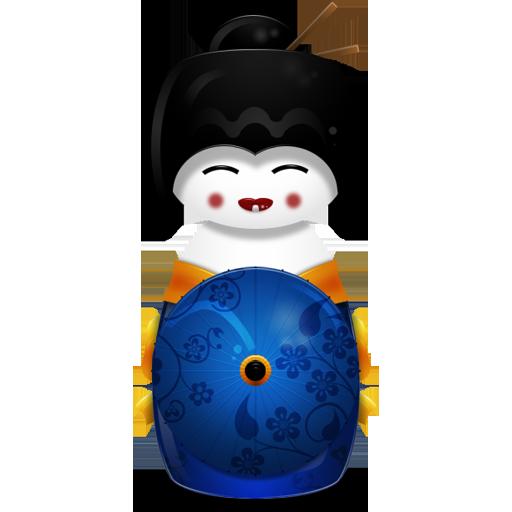 иконка Japan, японская гейша,