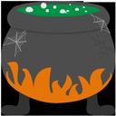 иконка bubbling cauldron, кипящий котел, хэллоуин, хеллоуин, halloween,
