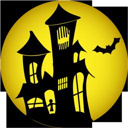 иконка haunted house, дом с приведениями, хэллоуин, призрачный дом,