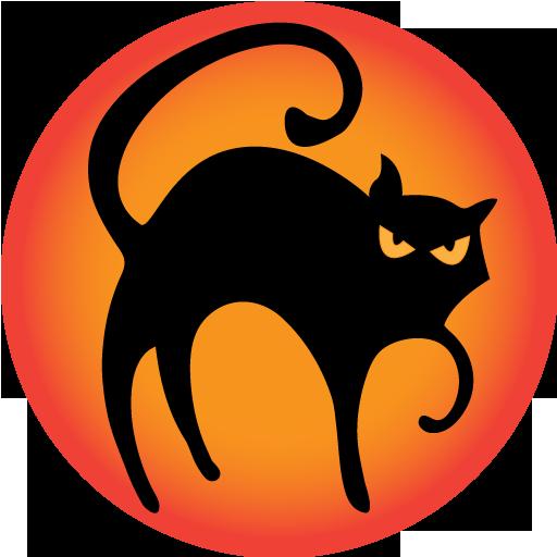 иконки black cat, черная кошка, черный кот, хэллоуин, кошка, кот,