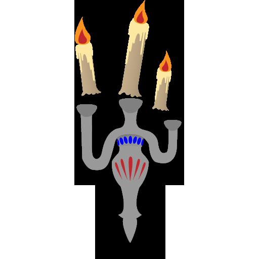 иконка floating candles, парящие свечи, подсвечник, хэллоуин,