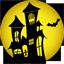 иконки haunted house, дом с приведениями, хэллоуин, призрачный дом,