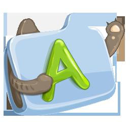 иконки folder, font, шрифты, папка,