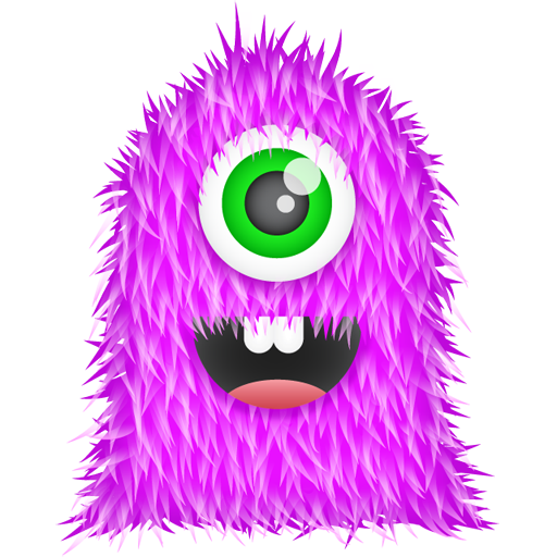 иконки Purple Monster, монстр, монстрик,