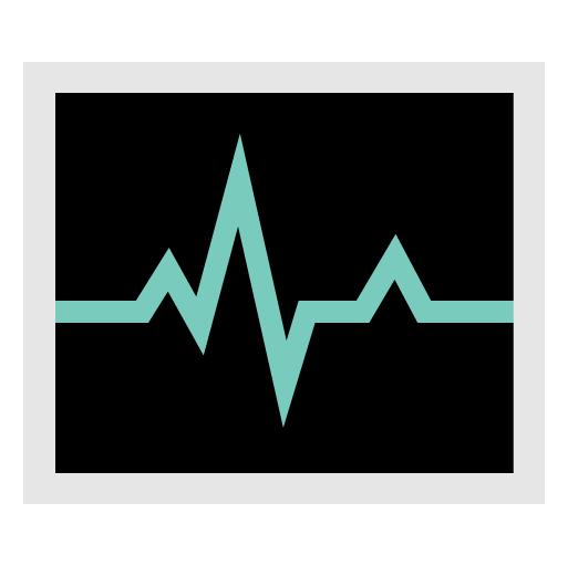 иконки Activity Monitor, сердечная активность, кардиограмма, производительность,