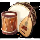 иконка music, музыка, музыкальные инструменты, барабан,