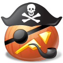 иконки PirateCaptain, пират, капитан, halloween, хэллоуин, тыква,