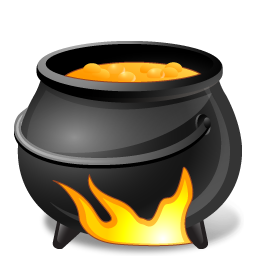 иконки Cauldron, котел, halloween, хэллоуин,