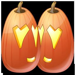 иконка Love, влюбленные, любовь, тыква, halloween, хэллоуин,