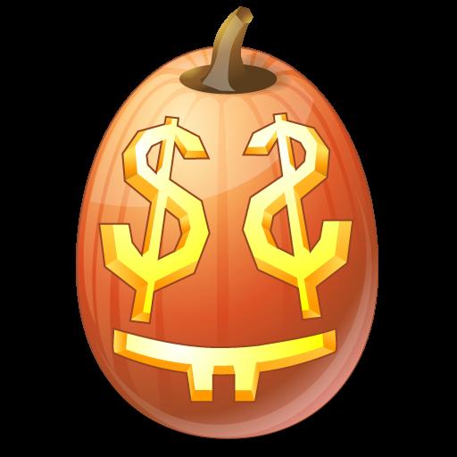 иконка EasyMoney, деньги, halloween, хэллоуин,