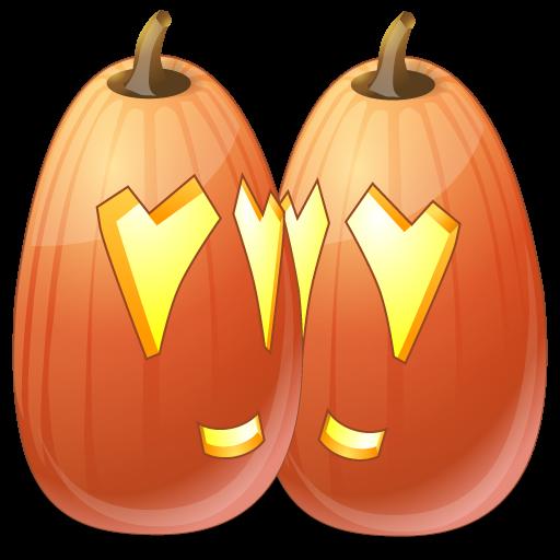 иконки Love, влюбленные, любовь, тыква, halloween, хэллоуин,