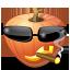 иконка Cool, крутой, тыква, halloween, хэллоуин,