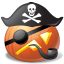 иконка PirateCaptain, пират, капитан, halloween, хэллоуин, тыква,