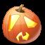 иконка Shock, шок, шокированный, тыква,  halloween, хэллоуин,
