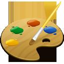 иконка color picker, палитра цветов, выбор цвета,