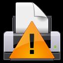иконки print warning, ошибка печати, принтер,