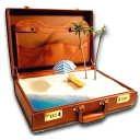иконка briefcase, чемодан, отдых,