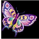 иконки ddd, бабочка,