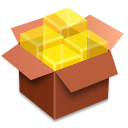 иконки file roller, коробка,