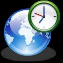 иконка world clock, мировое время, планировщик,