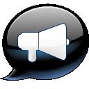 иконка konversation, рупор, диалоги, чат,