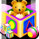 иконки games kids, кубики, игрушки,