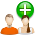 иконка user group new, новая группа, пользователи,