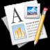 иконки abiword, документ, карандаш, текст,