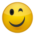 иконка подмигивание, смайл, смайлик, smile,