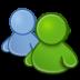 иконки emesene, пользователи, контакты,
