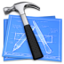 иконки gconfeditor, план, схема, чертежи, молоток,