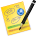 иконки glipper, записка, напоминание, карандаш,