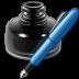 иконка writer, чернила, ручка,