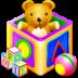 иконка games kids, кубики, игрушки,