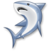 иконка shark, акула, рыба,