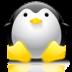 иконка rave, пингвин,
