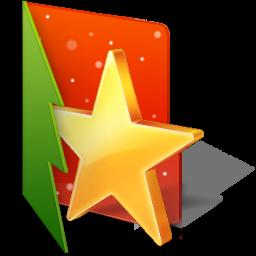 иконки Favorites Folder, избранное, новый год, звезда,